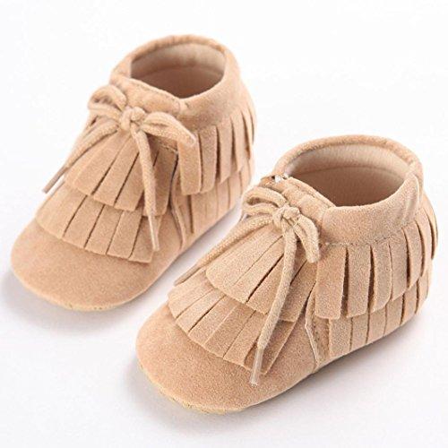 Sapatos De Bebê Hunpta, Meninas, Meninos Walker Sapatos Bebê Criança Borla Recém-nascido Sapatos Prewalker Sola Macia (11, Verde) Ouro
