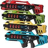 Light Battle Anti-Cheat Lasertag Set - 4 Mega Blaster Lasergewehre (Grun, gelb, rot, blau) -...