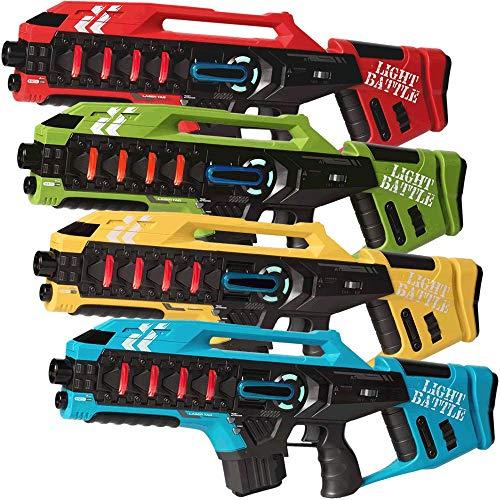 Light Battle Lasertag Spiel für Kinder: 4 Anti-Cheat Laser Tag Gewehre Kaufen - Laser Game Toy Gun für zu Hause | Rot + Grün + Gelb + Blau | LBAPG1021248