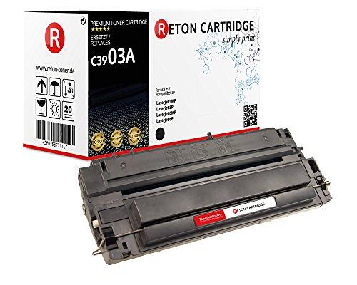 Original Reton Toner, kompatibel, Schwarz für HP C3903A, HP Laserjet, 5MP, 5P, 6MP, 6P, 6PSE, 6PSI, 6PXE, 6PXI Schwarz 4000 Seiten -
