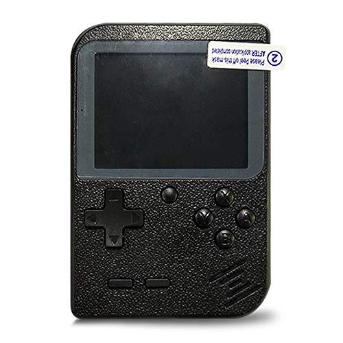 Flybiz Consoles De Jeux Portable, Console de Jeu Retro FC, Console de Jeu vidéo pour système de Divertissement, 3 Pouces 400 Classique Jeux, Chargement USB, Grand Cadeau pour Les Enfants (Noir)