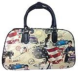 Big Handbag Shop , Damen Rucksackhandtasche Beige - Elvis Presley Print