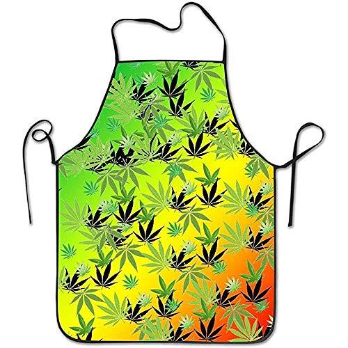 Kostüm Indianer Ziel - Bee Brown Schürzen Hanf verlässt die Muster-Kunst, die Chef Kitchen mit justierbarem Schellfisch-Schwarzem kocht