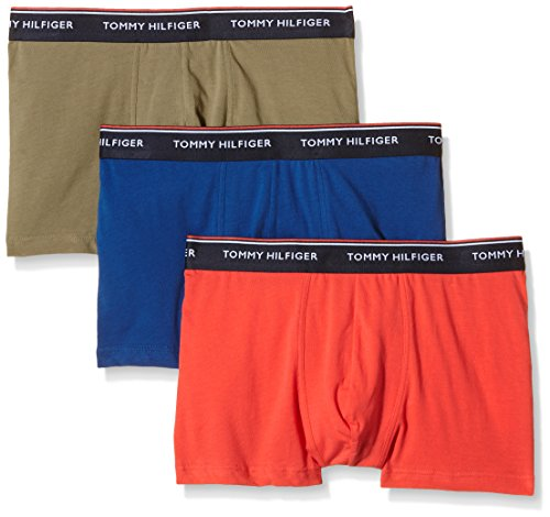 Tommy Hilfiger Icon Trunk 3 Pack Th - Pack de 3 calzoncillos para hombre, multicolor (dusky green-pt / bittersweet / limoges-p), talla Small