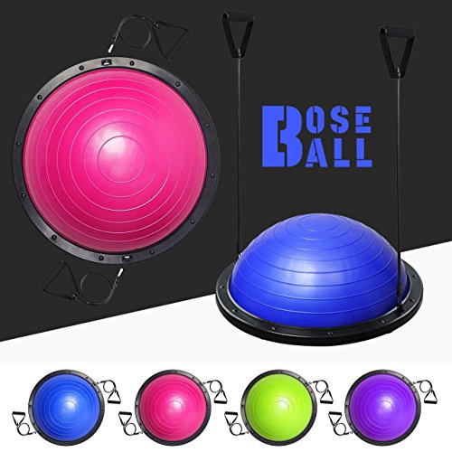 We R Sports Yoga Bosu Ball Fitball Balance Trainer Stabilizer GYM Pilates Fitness Balancing (Bright Green)