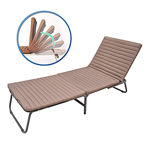 Luxury Folding Guest Bed with Adjustable Backrest Fold Lounge Chair
