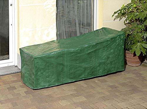 Provance Abdeckung mit Zurrkordel für Gartenliege Wasserdicht Deckchair, Liegestuhl, Sonnenliege Schutzhülle ca. (190x70x65/90cm) - grün