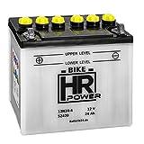 Motorradbatterie Starterbatterie 12V 24Ah 12N24-4...