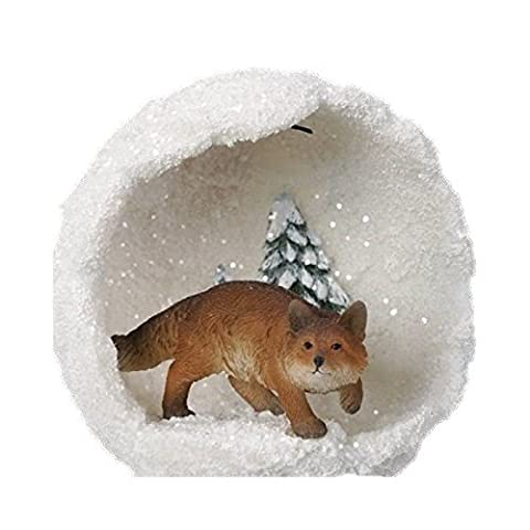 Christmas Outdoor Hanging Decoration - Fox Snowball