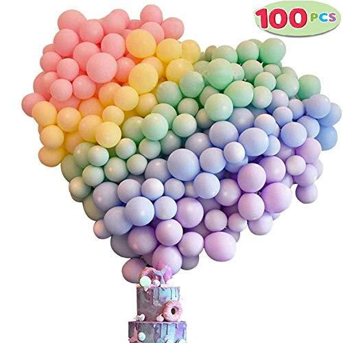 Luftballons Pastell 100 Stück Ballons Party, Ballons farbigen Pastell, Helium Ballons Latex Luftballons Partyballons Ballons Bunte für Hochzeit,Geburtstag,Party, Weihnachten,Valentinstag