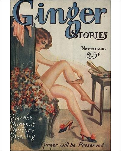 Stampa fotografica di zenzero storie 19271920S usa erotica Pulp Fiction riviste Menas