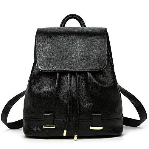 HYH Leder Umhängetasche Weibliche Reisetasche New Tide Weiblicher Rucksack European and American Fashion Erste Schicht Rindsleder Handtasche Schönes Leben