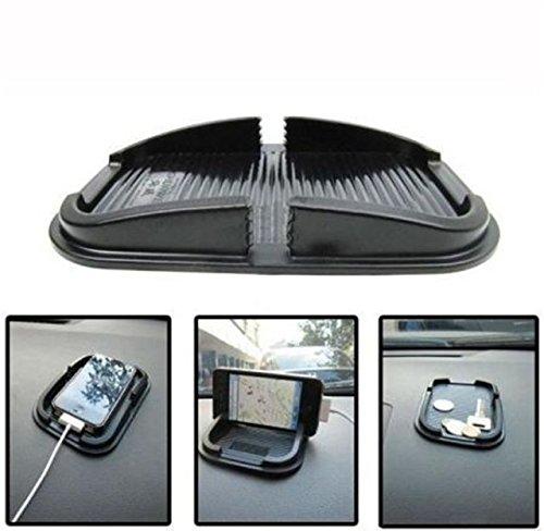 INION - Supporto Universale Antiscivolo per Cellulare, per cruscotto Auto, con 2 Fessure, aderisce Senza Colla Senza Viti! Non Magnetico. per Tutti Gli Smartphone e cellulari.