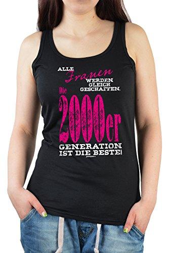 Damen Tanktop zum Geburtstag - Frauen ...die 2000er Generation ist die Beste! Cooles Trägershirt Schwarz