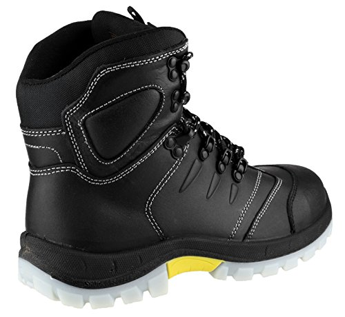 Amblers Safety Mens FS196 Leather Waterproof Safety Boots Black Noir