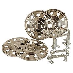 Hansen Styling Parts '16pollici/17,5Copricerchi Set 4pezzi universale in acciaio inox per camper e furgoni