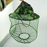 Fulla2116 Grüne Tarnmuster Mütze Netz Kapuze Anti Mosquito Nylon Hut