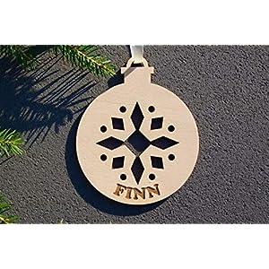 Weihnachtskugel mit Namen in Wunschfarbe– Ornament – Christbaumkugel Christbaumschmuck Weihnachtsbaumkugel