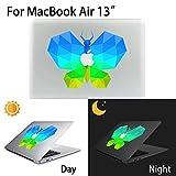 MacBook Air Aufkleber, AKPATI Haut Aufkleber Removable Leuchtender Aufkleber Skin Laptop Decal Sticker Abdeckung Abziehbild für MacBook Air 13 Zoll - Butterfly #3 Pattern