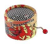 Boîte à musique à manivelle en carton renforcé - L\'internationale (Pierre Degeyter)
