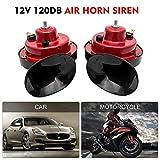 MASO 12V Electric Car Horn Super Loud Air Horns Twin Dual-tone Snail