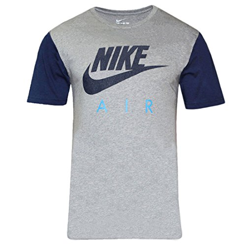 Nike Sportswear Herren T-Shirt Grey Heather/Blue