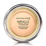 Max Factor - Fondotinta compatto Miracle Touch, n° 40 Creamy Ivory, 1 pz. (1 x 11,5 g)