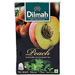 Dilmah Peach Flavoured Tea , 50g (Pack of 2)