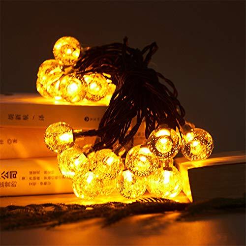 Wasserdichte Lampe Solar Ball Lichterkette Im Freien Led Dekorative Lichterkette Landschaft Gartenbeleuchtung Warmweiß 6,5 Meter 30 Lichter