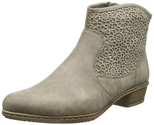 Rieker Damen Y0735 Kalt gefüttert Classics Kurzschaft Stiefel und Stiefeletten, Grau (elefant/Bisonte/42), 37 EU
