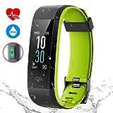 Pruvansay Fitness Armband mit Pulsmesser, Fitness Tracker IP68 Wasserdicht Smartwatch, 0,96-Zoll...