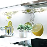 Küchenrückwand Zitronen Wasser Premium Hart-PVC 0,4 mm selbstklebend 220x80cm