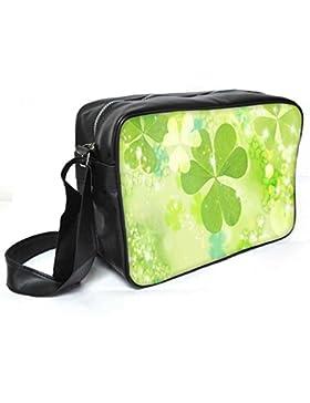 Snoogg Floral Blätter Leder Unisex Messenger Bag für College Schule täglichen Gebrauch Tasche Material PU