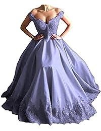 8300021cf23 Cloverbridal Damen Elegante Ballkleider Abendkleider Lange Spitze Formell  Partykleider 2018