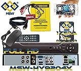 MSW-HY9204X - DVR NVR IBRIDO 4 Canali CH Più HD1000GB INSTALLATO Per Telecamere 3.0 MP / 1080P Sistema di Videosorveglianza 5 IN 1 Dispositivo 12 CANALI IN MODALITA' NVR con Telecamere IP
