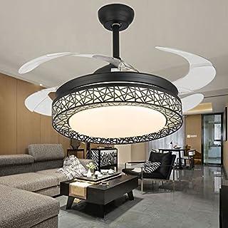 42 Zoll Ventilator Leuchter Ferngesteuerte Dimmbare Unsichtbare Moderne  Fan Deckenleuchte, Acryl