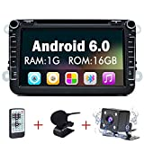 Junsun 8 Zoll Android 6.0 Autoradio DVD Player 2 Din mit GPS Navigation unterstützt WiFi Funktion + Bluetooth + Anschlüsse für Rückfahrkamera,...