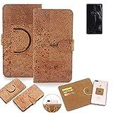 K-S-Trade Schutz Hülle für Doogee Mix Lite Handyhülle Kork Handy Tasche Korkhülle Handytasche Wallet Case Walletcase Schutzhülle Flip Cover Smartphone
