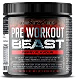 Pre Workout Beast (Berry Flavour) - Hardcore pre-Workout Supplement with Creatine, Caffeine, Beta-Alanine