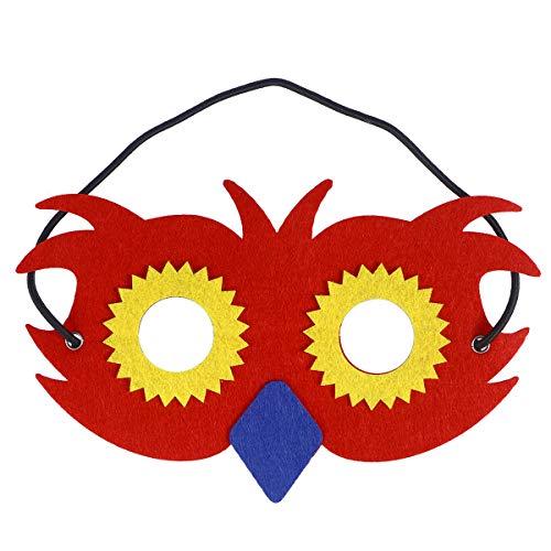 BESTOYARD Eule Maske Kinder Tiermasken Augen Masken Cosplay für Kinder (rot)