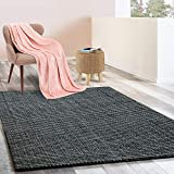 Floordirekt Jute-Teppich | Natur Teppich Urbano | Naturfaser | Sisal Look | Handgewebt | Bouclé | 6 Größen | 4 Farben (Stahlgrau, 160x230 cm)