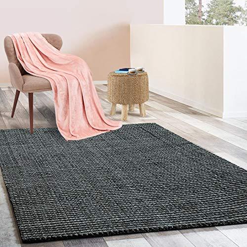 *Floordirekt Jute-Teppich | Natur Teppich Urbano | Naturfaser | Sisal Look | Handgewebt | Bouclé | 6 Größen | 4 Farben (Stahlgrau, 160×230 cm)*
