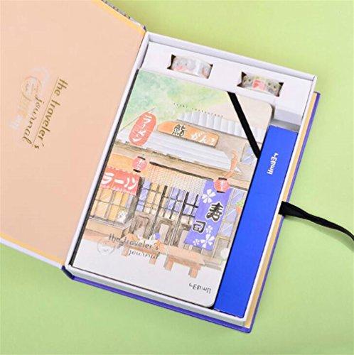 schenk-Teenager-kreatives Briefpapier Idee für Mädchen Boxed Kinder Notebook & Briefpapier Geschenk-Set (Sushi House) ()