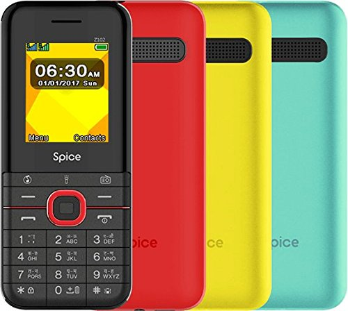 Spice Z102 Mobile Phone Yellow Colour