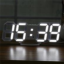 MYAMIA Digital Moderna Grande Led Pared Esqueleto Reloj Temporizador 24/12 Horas Display 3D Gife