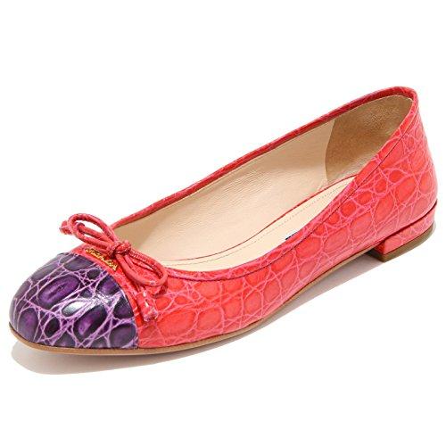 8449I PRADA ballerina donna shoes woman rosso/viola [36]