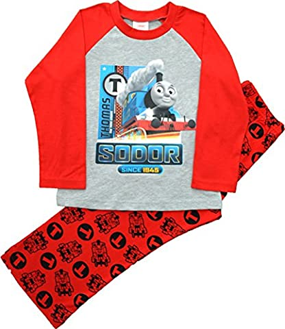 Boys Thomas Tank Engine Long Red Long Pyjamas Size 18-24