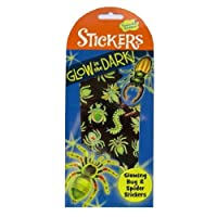 Glow In the Dark Stickers - Glowing Bugs & Spiders - Art, Craft & Room Decoration