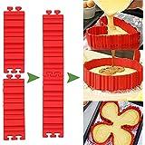 Magic Bake Snake Silicona Pastel Moldes Cocina Herramientas para hornear Nonstick 4 Piece Red Color