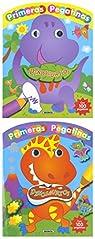 Dinosaurios con ojos y pegatinas par Susaeta